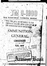 TM 9-1900 Amunition general 1945