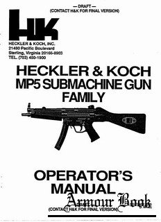 Heckler & Koch MP5 Submachine Gun Family [Operator's Manual]