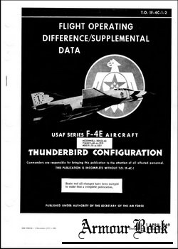 Flight operating difference supplemental data F4E TO1F-4C-1
