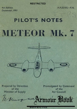 Pilot's Notes Meteor Mk7