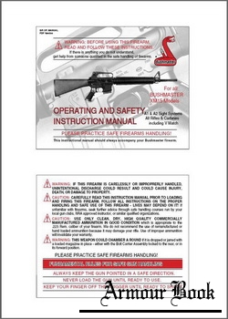 Bushmaster XM15 Operating and safety instruction manual