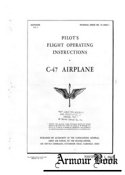 Pilot's flight operating instructions C-47 airplane
