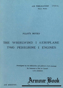 Pilots Notes Whirlwind I Two Peregrine I