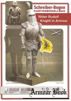Ritter Rudolf. Knight in Armour [Schreiber-Bogen kartonmodellbau]