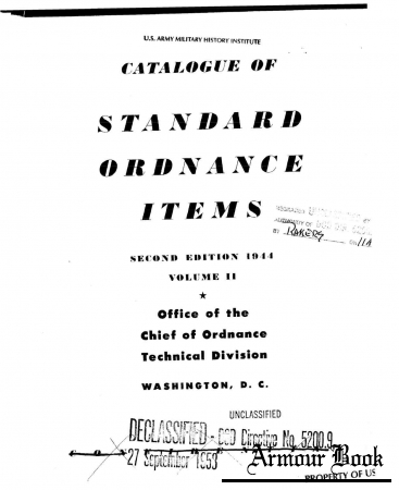 Catalogue of Standard Ordnance Items 1944. Vol. II