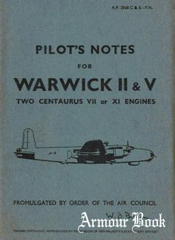 Pilots Notes For Warwick II & V