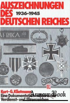 Auszeichnungen des Deutschen Reiches 1936-1945 [Motorbuch Verlag]