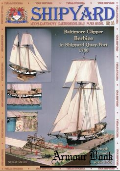 Baltimore Clipper Berbice in Shipyard Quay-Port 1780 [Shipyard 38]