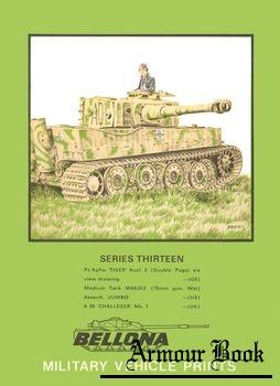 """Pz Kpfw """"Tiger"""" Ausf. E [Bellona Military Vehicle Prints 13]"""