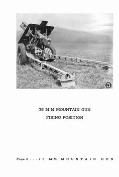 75mm Mountain Gun [National Forge & Ordnance Co.]