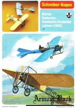 Bleriot-eindecker & Antoinette-eindecker Latham [Schreiber-Bogen 72188]