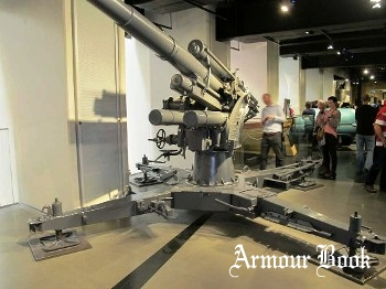 German 8.8cm Flak 18 Barrel on a Flak 36 Mount [Walk Around]