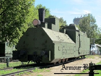 Armored Locomotive from Krasnovostochnik Armored Train [Walk Around]