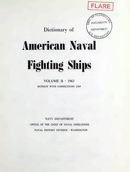 Dictionary of American Naval Fighting Ships vol II [Naval History Division]