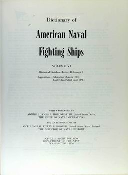 Dictionary of American Naval Fighting Ships vol VI [Naval History Division]