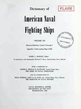 Dictionary of American Naval Fighting Ships vol VII [Naval History Division]