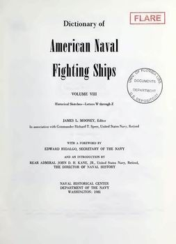 Dictionary of American Naval Fighting Ships vol VIII [Naval History Division]
