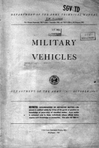TM9-2800 Technical Manual: Military Vehicles, October 1947
