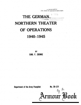 German Northern Theater of Operations 1940-1945 [Department of the Army Pamphlet]