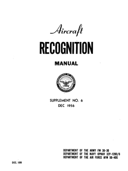 Aircraft Recognition Manual [Department of the Air Force]
