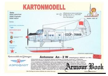 Antonow An-2 W [Kartonmodell Verlag]