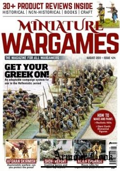 Miniature Wargames 2018-08