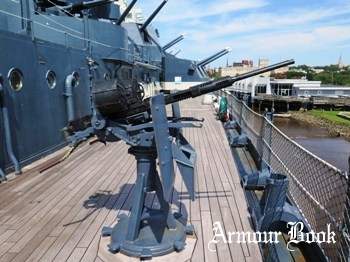 Twin 20mm Oerlikon Anti-Aircraft gun (USS North Carolina BB-55) [Walk Around]