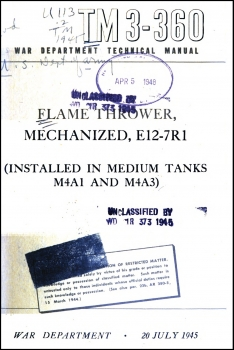 TM 3-360 Flame Thrower, Mechanized, E12-7R1