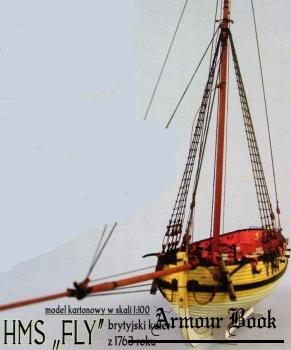 HMS Fly, brytyjski kuter z 1769 roku (1/100)