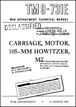 TM 9-731E Carriage, Motor, 105-mm Howitzer, M7