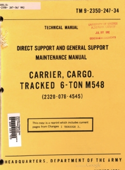 TM 9-2350-247-34 Carrier, Cargo, Tracked, 6-ton, M548