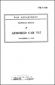 TM 9-740 Armored Car T17
