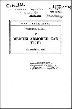 TM 9-741 Medium Armored Car T17E1
