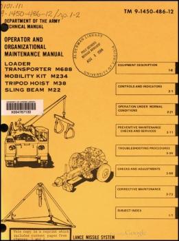 TM 9-1450-486-12 Loader-Transporter M688 (Lance Missile System)