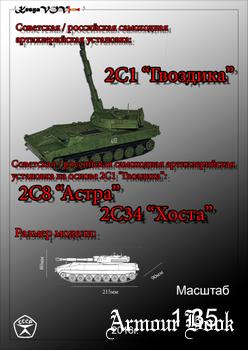 """САУ 2С1 """"Гвоздика"""", САУ 2С8 """"Астра"""" и САУ 2С34 """"Хоста"""" [KesyaVOV]"""