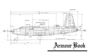 Чертежи Martin B-26B Marauder с клепкой [Kantosha Mook]