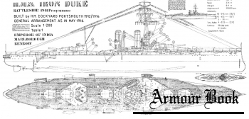 Чертежи линкора HMS Iron Duke (1916) [Sambrook Marine plans]
