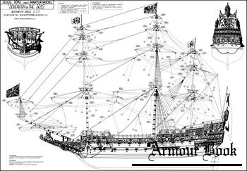 Парусники Англии (подборка чертежей)
