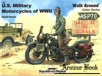 U.S. Military Motorcycles of WWII Walk Around [Squadron Signal 5707]