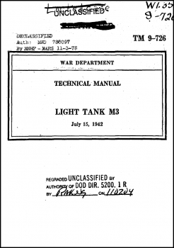 TM 9-726: Light Tank M3