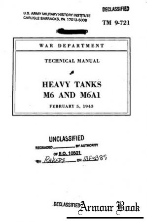 Heavy Tanks M6 and M6A [Technical manuals 9-721]